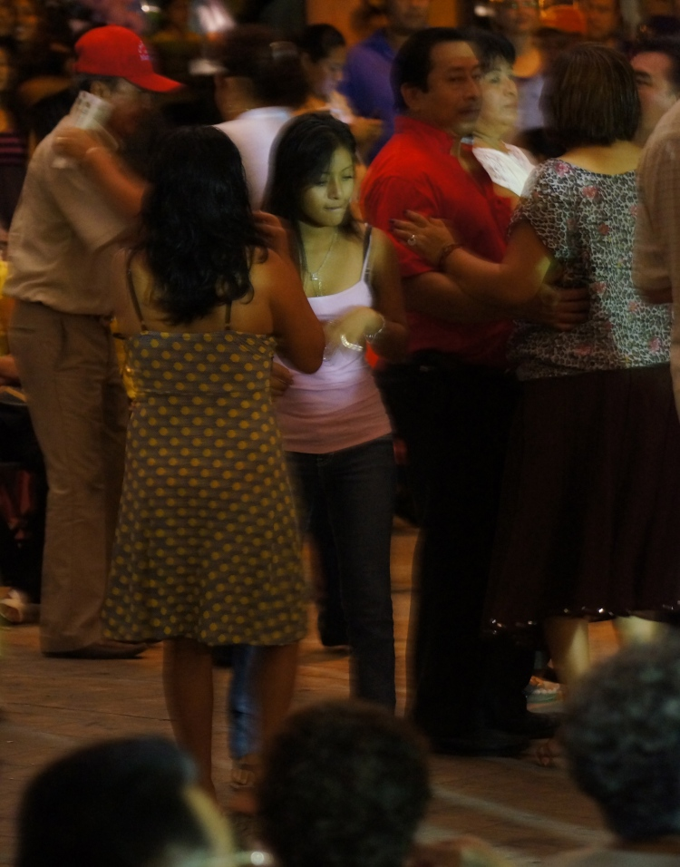 Dancing in Valladolid, Mexico.